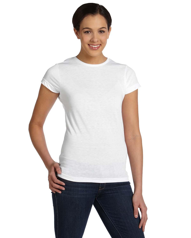 Sublivie Ladies' Junior Fit Sublimation T-Shirt WHITE