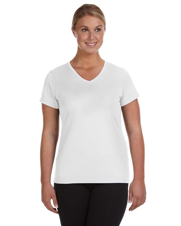 Augusta Sportswear Ladies' NexGen Wicking T-Shirt WHITE