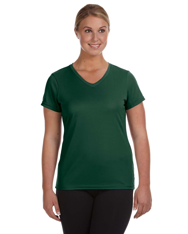 Augusta Sportswear Ladies' NexGen Wicking T-Shirt DARK GREEN