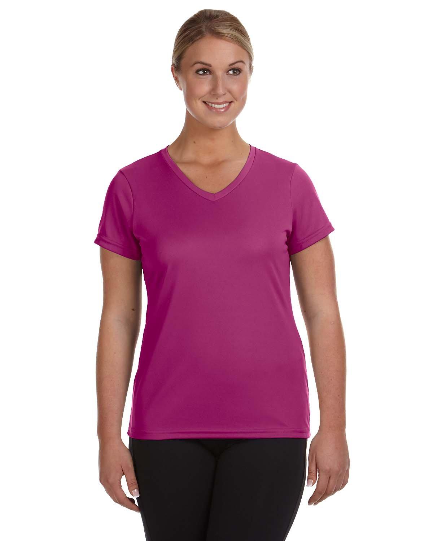Augusta Sportswear Ladies' NexGen Wicking T-Shirt POWER PINK