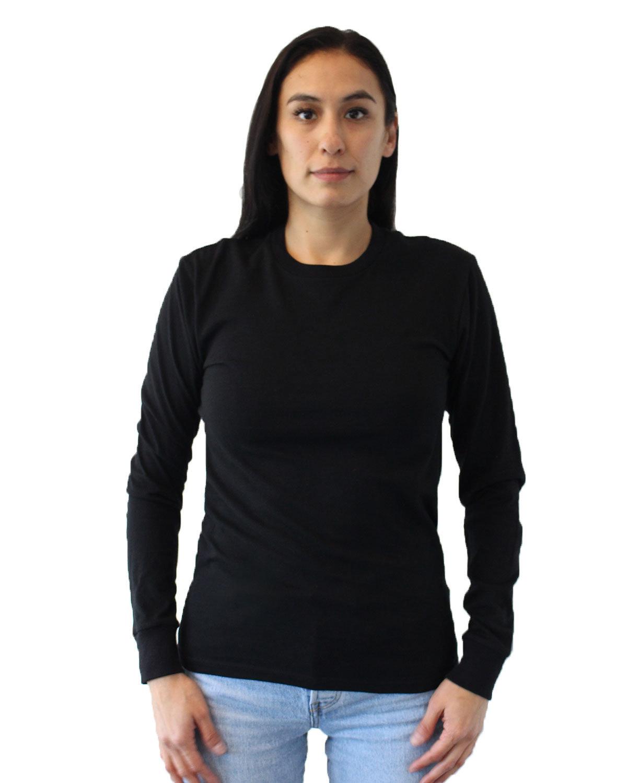 Next Level Unisex Ideal Heavyweight Long-Sleeve T-Shirt BLACK