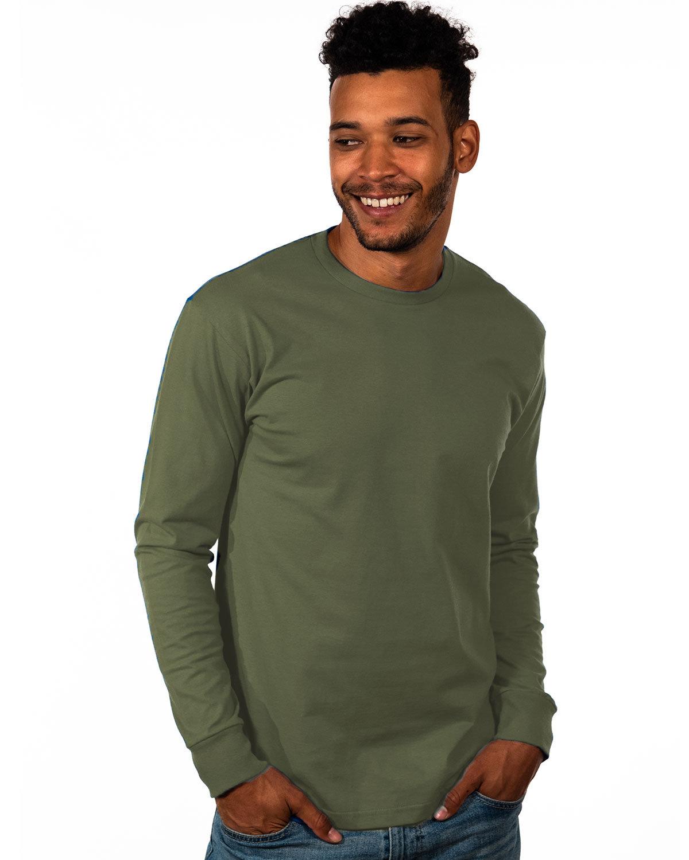 Next Level Unisex Ideal Heavyweight Long-Sleeve T-Shirt MILITARY GREEN