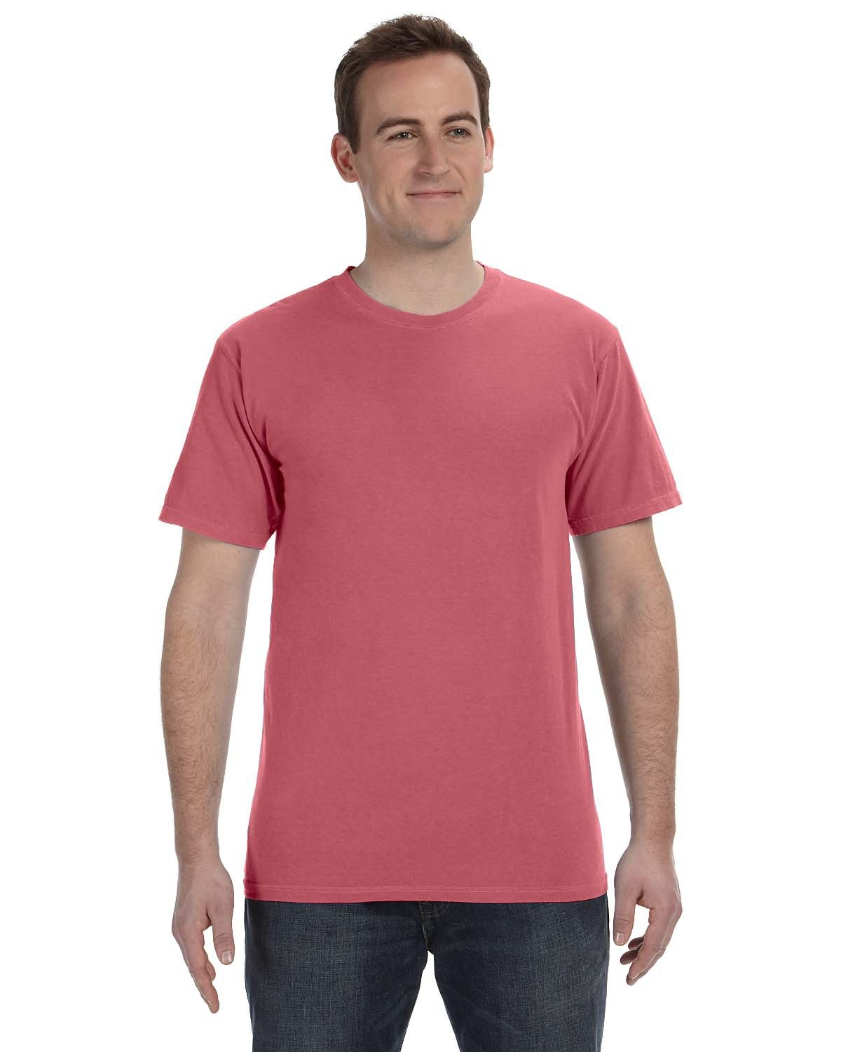 Authentic Pigment 5.6 oz. Pigment-Dyed & Direct-Dyed Ringspun T-Shirt NAUTICAL RED