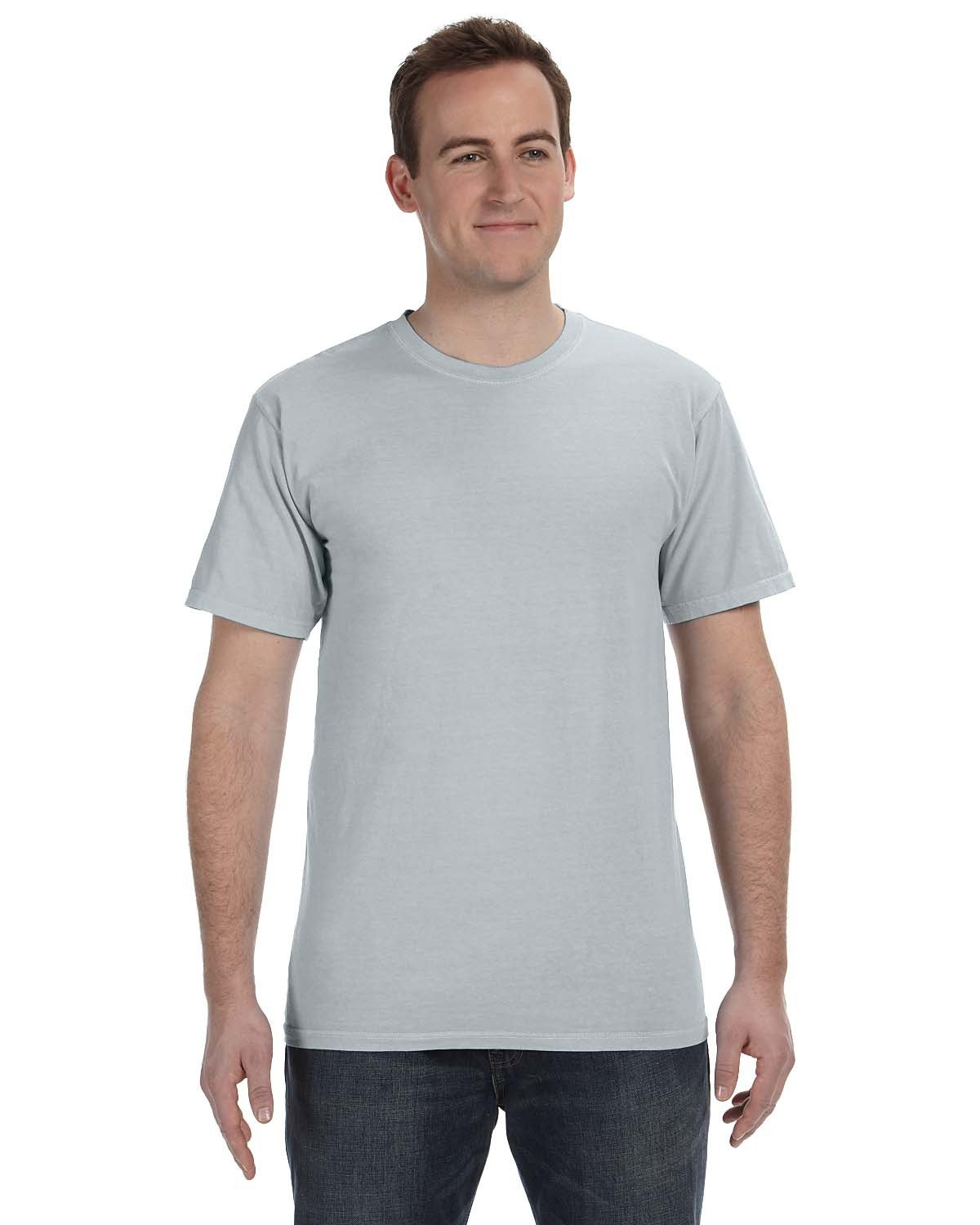 Authentic Pigment 5.6 oz. Pigment-Dyed & Direct-Dyed Ringspun T-Shirt CHROME