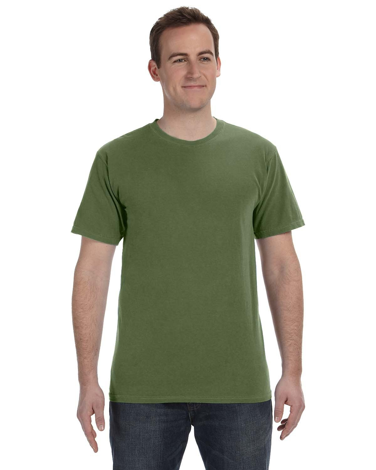 Authentic Pigment 5.6 oz. Pigment-Dyed & Direct-Dyed Ringspun T-Shirt HEMP