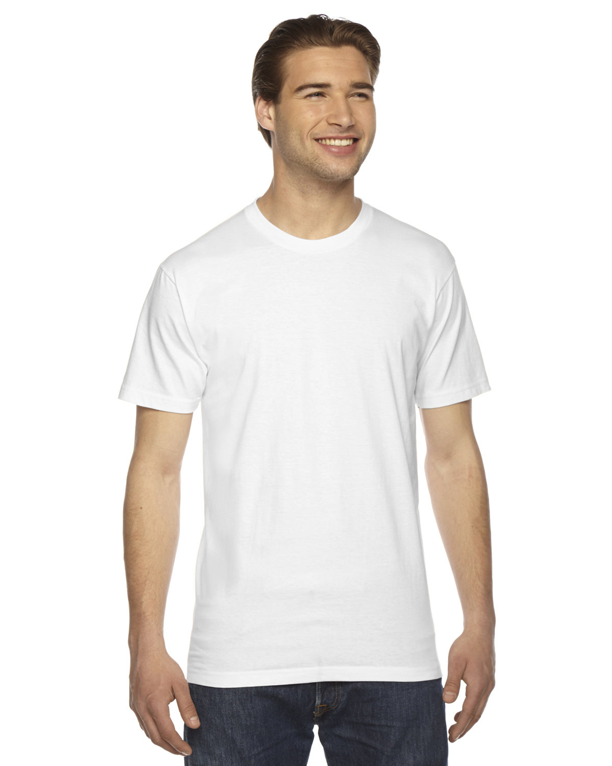 American Apparel Unisex Fine Jersey USA Made T-Shirt WHITE