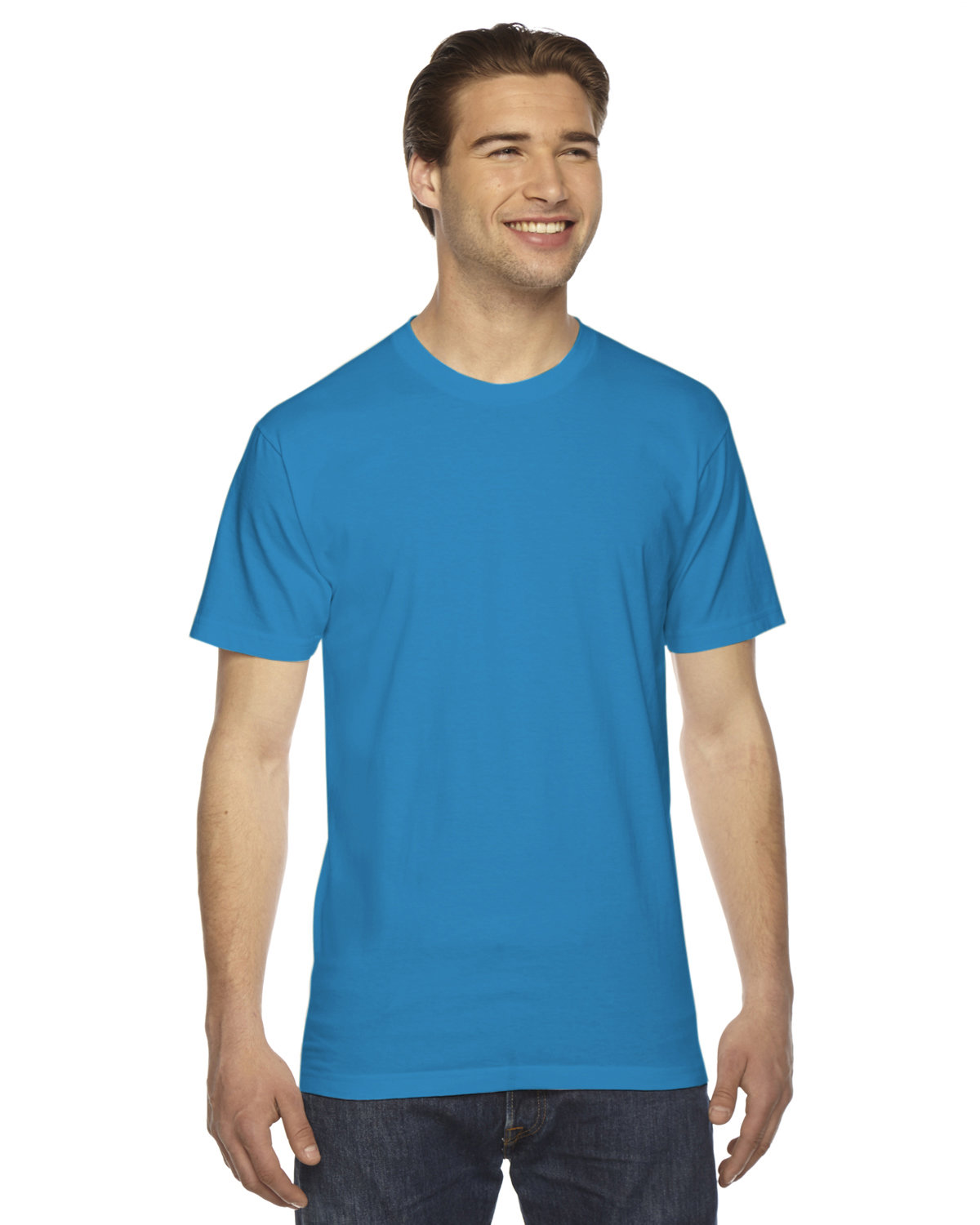 American Apparel Unisex Fine Jersey USA Made T-Shirt TEAL