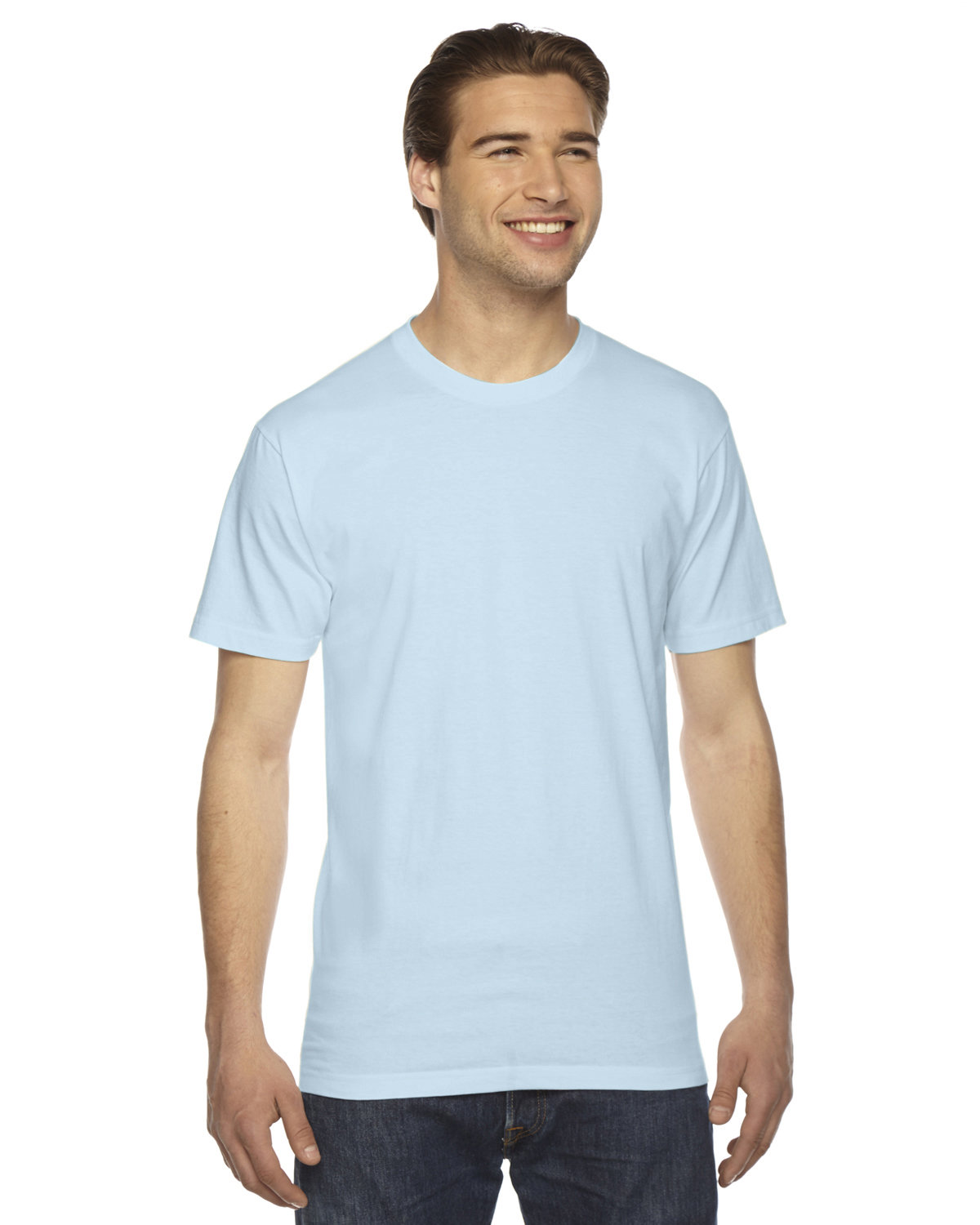 American Apparel Unisex Fine Jersey USA Made T-Shirt LIGHT BLUE