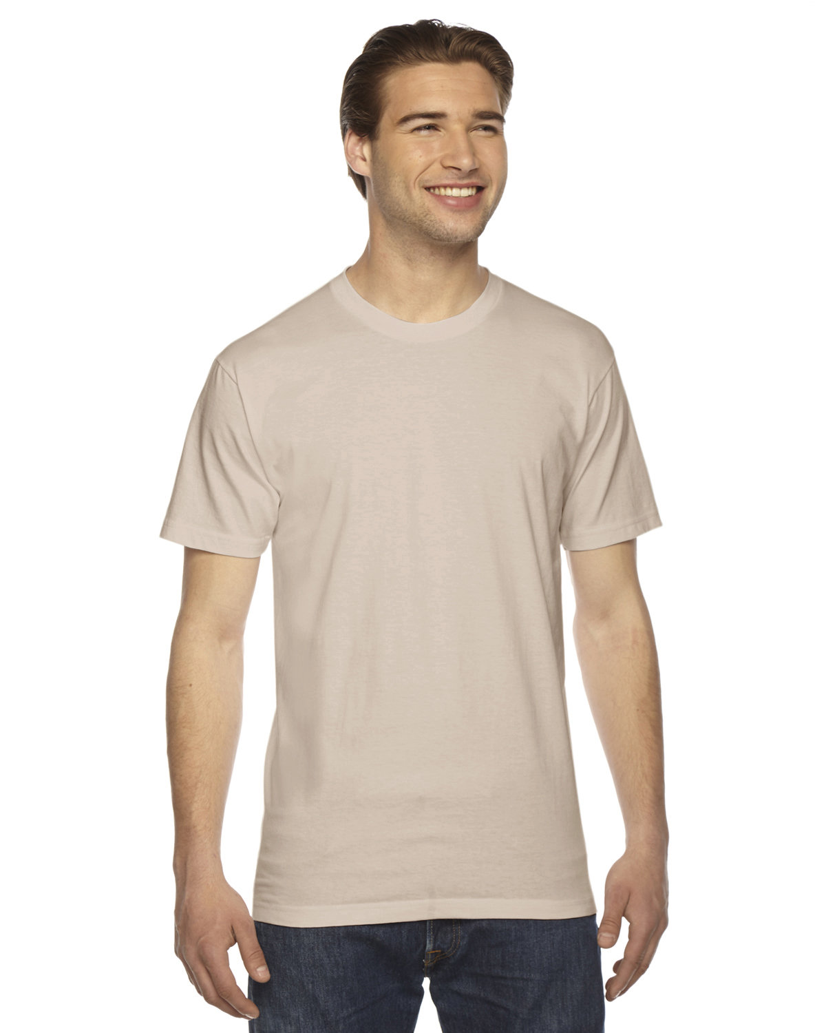American Apparel Unisex Fine Jersey USA Made T-Shirt CREME