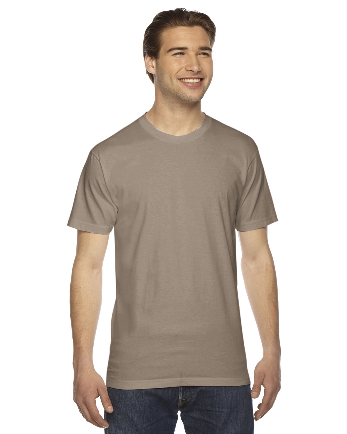 American Apparel Unisex Fine Jersey USA Made T-Shirt ARMY