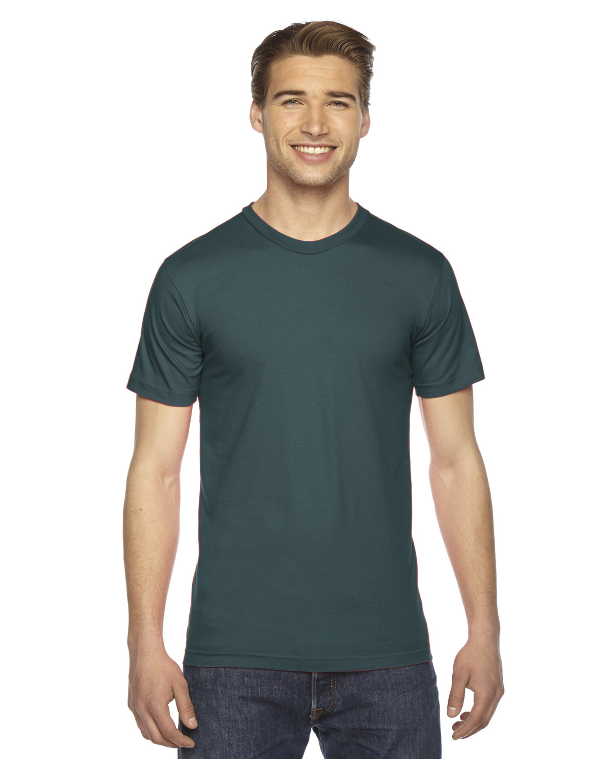 American Apparel Unisex Fine Jersey USA Made T-Shirt FOREST