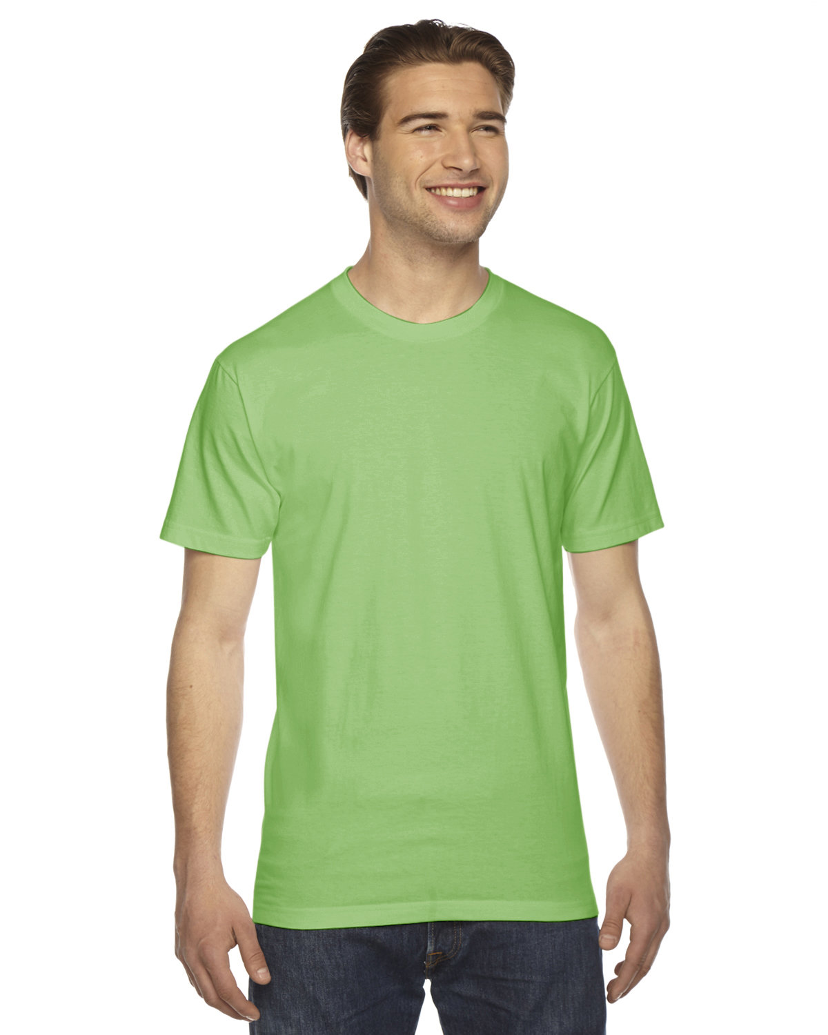 American Apparel Unisex Fine Jersey USA Made T-Shirt GRASS