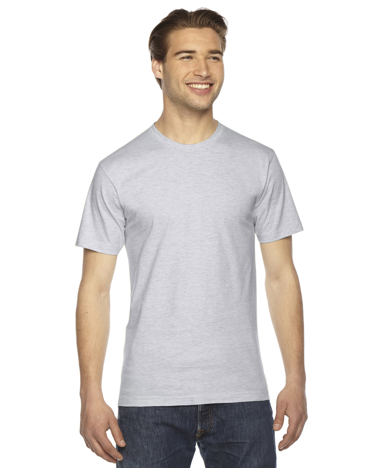 American Apparel Unisex Fine Jersey USA Made T-Shirt ASH GREY