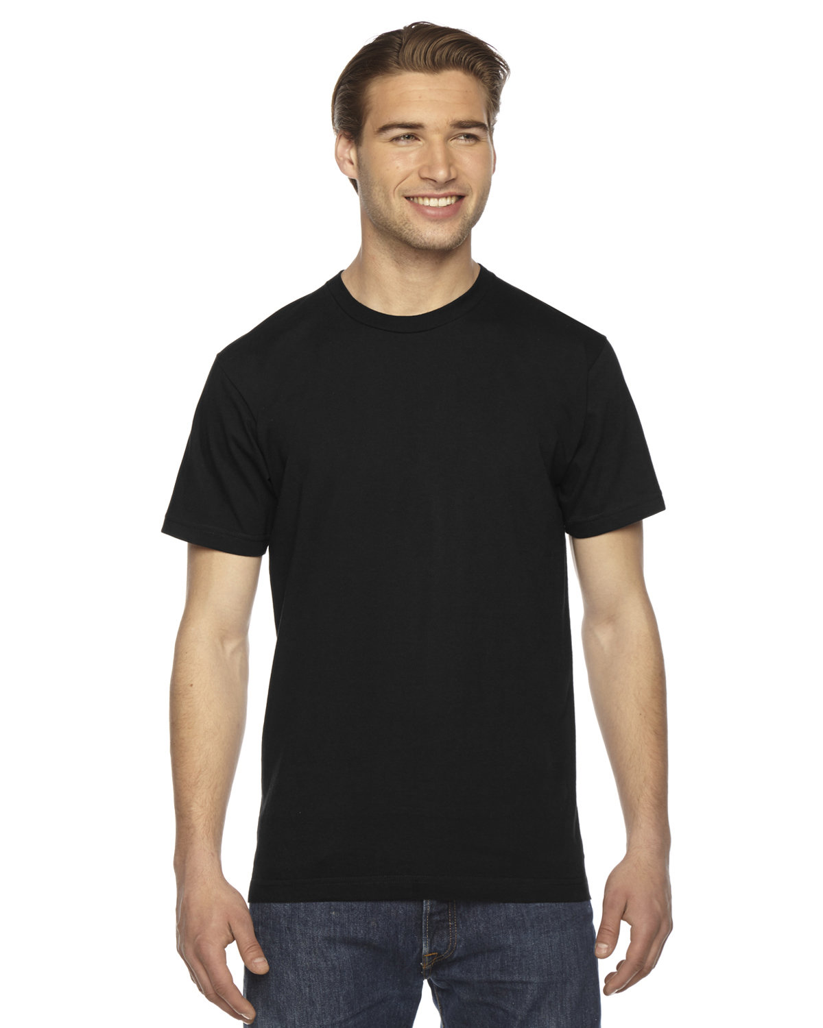 American Apparel Unisex Fine Jersey USA Made T-Shirt BLACK