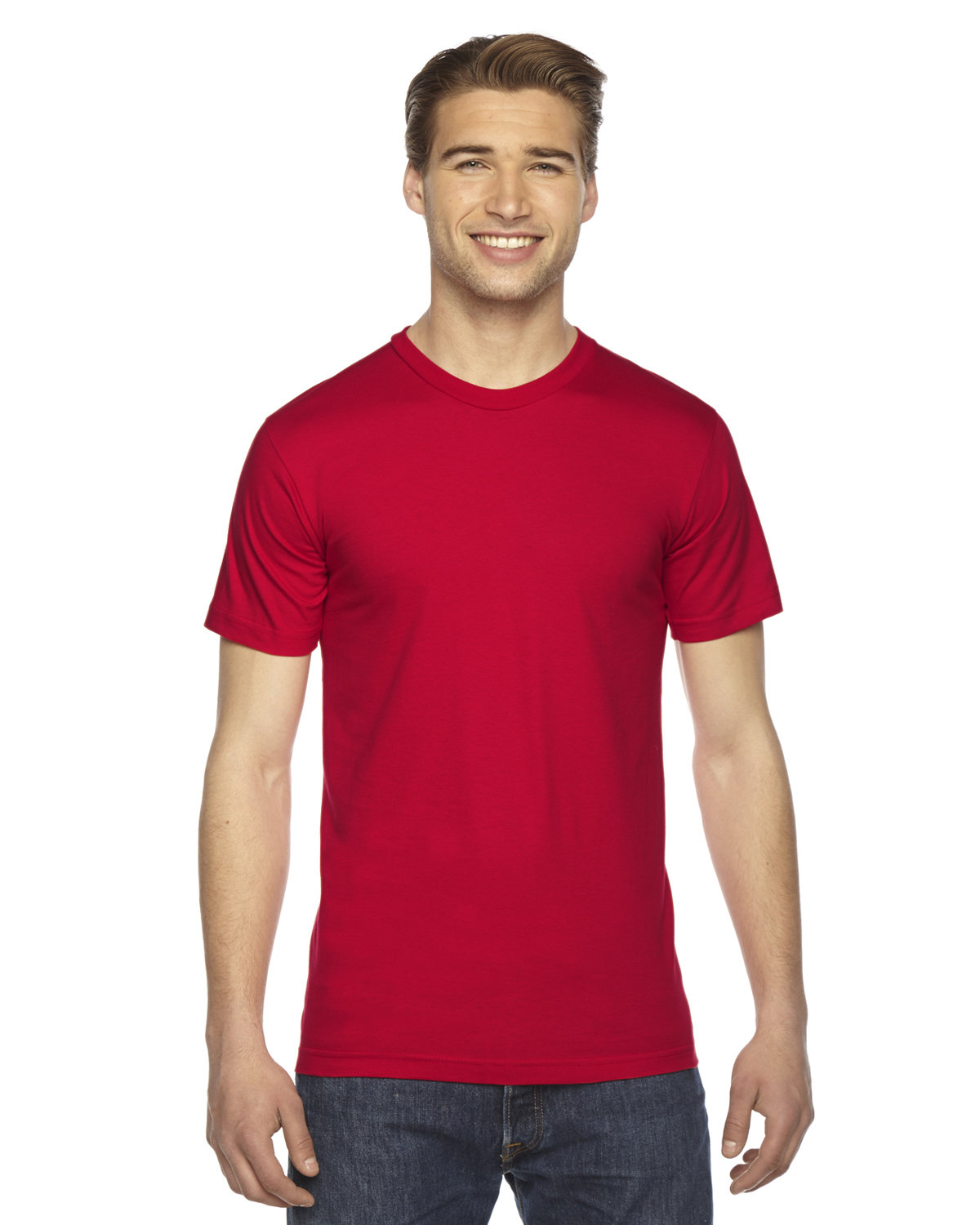 American Apparel Unisex Fine Jersey USA Made T-Shirt RED