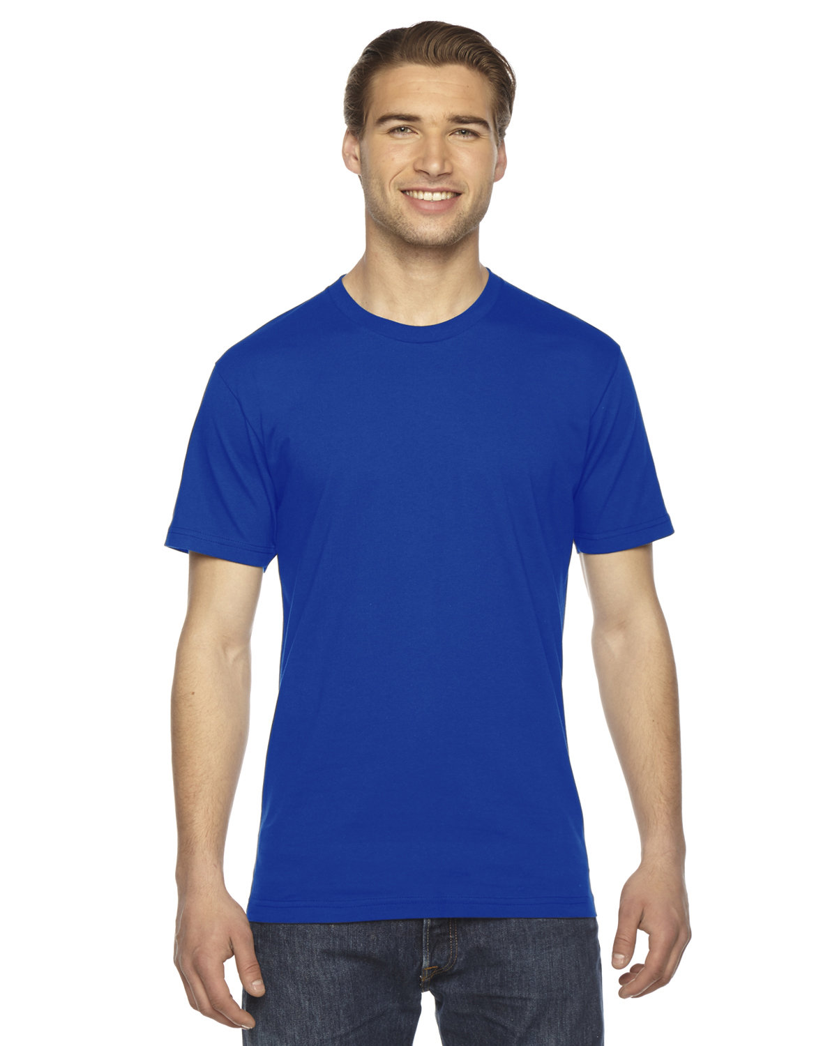 American Apparel Unisex Fine Jersey USA Made T-Shirt ROYAL BLUE