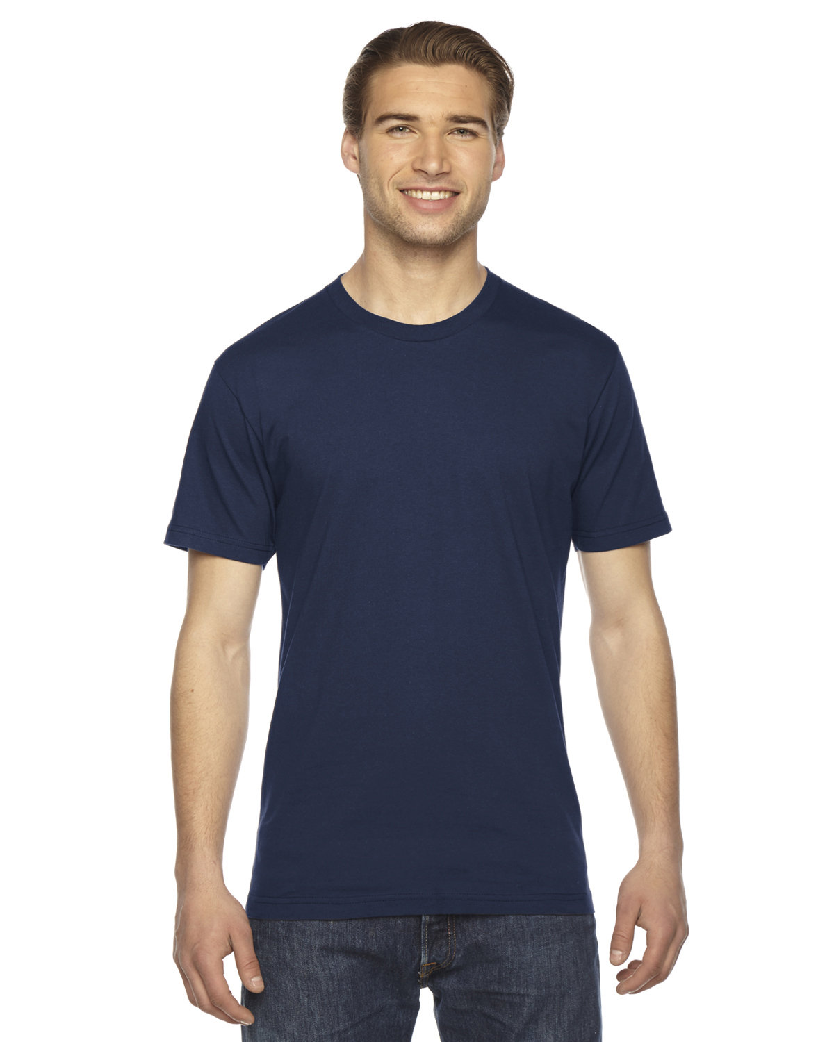 American Apparel Unisex Fine Jersey USA Made T-Shirt NAVY
