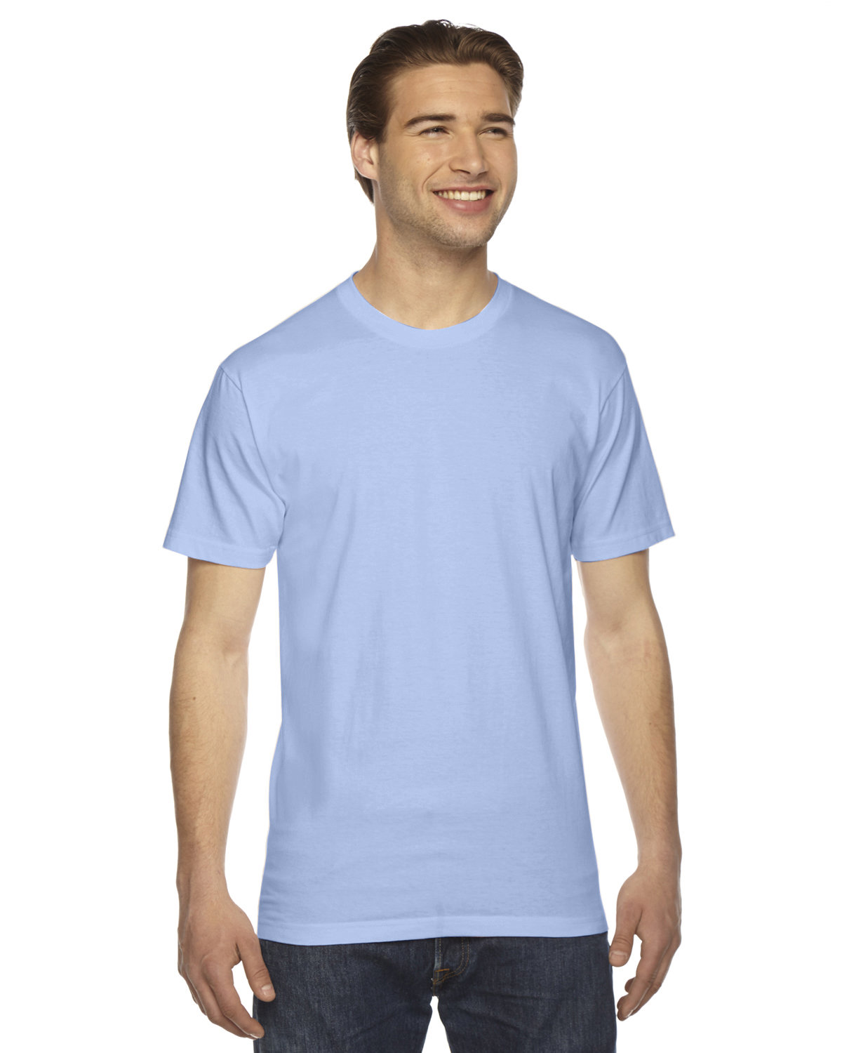 American Apparel Unisex Fine Jersey USA Made T-Shirt BABY BLUE
