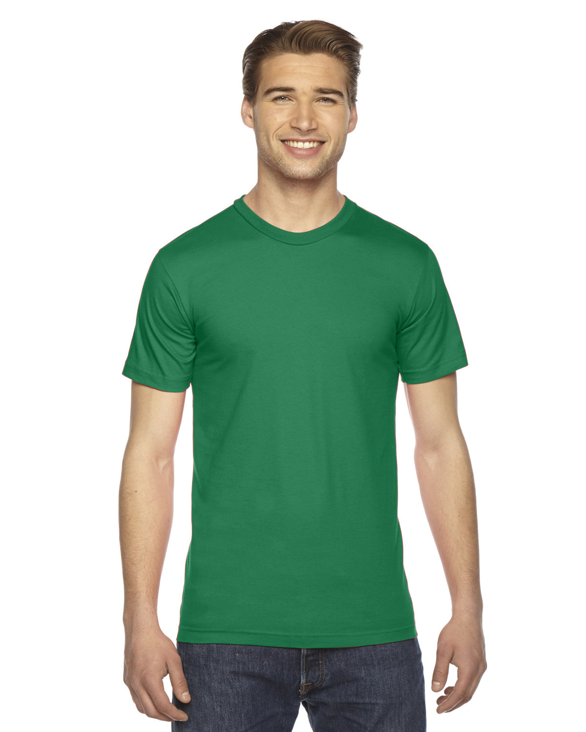 American Apparel Unisex Fine Jersey USA Made T-Shirt KELLY GREEN