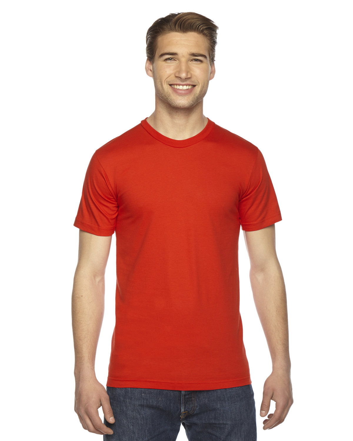 American Apparel Unisex Fine Jersey USA Made T-Shirt ORANGE