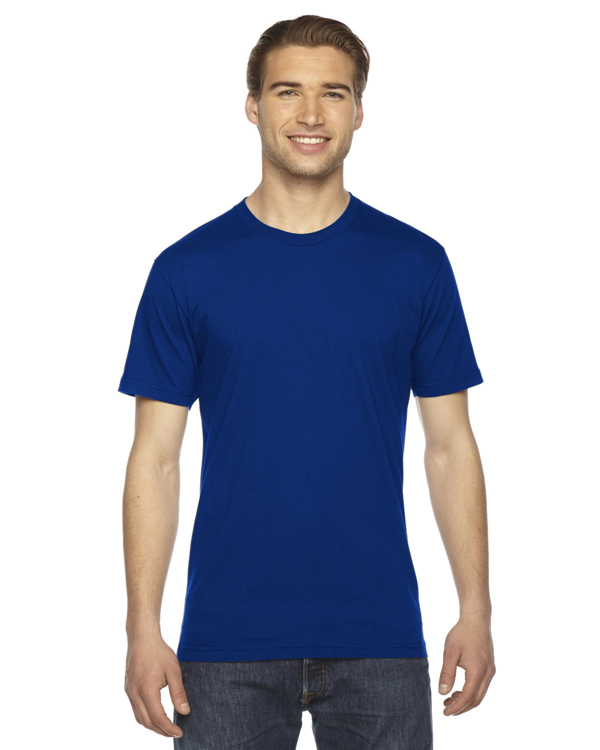 American Apparel Unisex Fine Jersey USA Made T-Shirt LAPIS