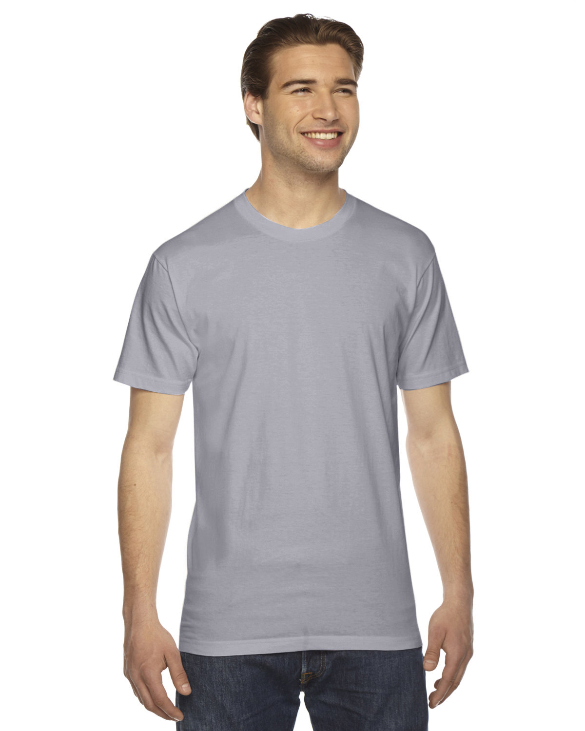 American Apparel Unisex Fine Jersey USA Made T-Shirt SLATE