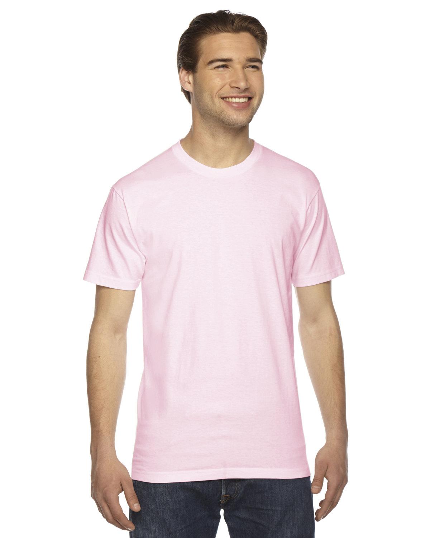 American Apparel Unisex Fine Jersey Short-Sleeve T-Shirt LIGHT PINK