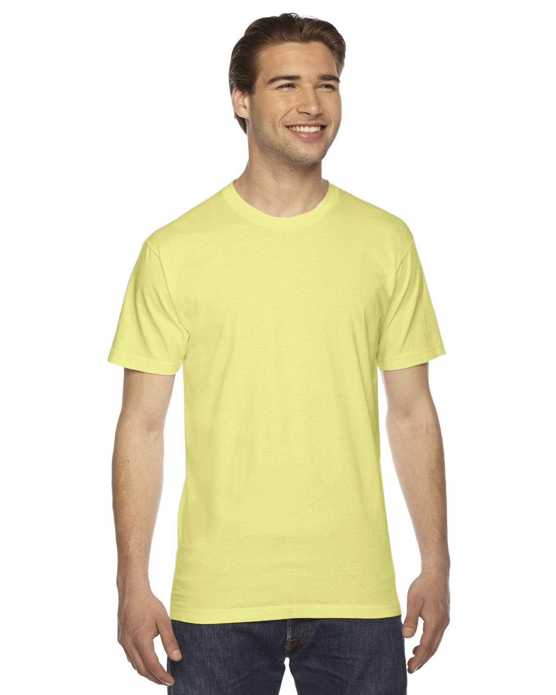 American Apparel Unisex Fine Jersey Short-Sleeve T-Shirt LEMON
