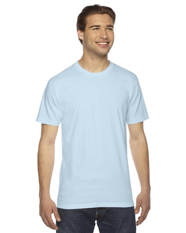 American Apparel Unisex Fine Jersey Short-Sleeve T-Shirt LIGHT BLUE