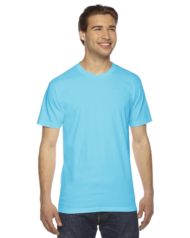 American Apparel Unisex Fine Jersey Short-Sleeve T-Shirt TURQUOISE
