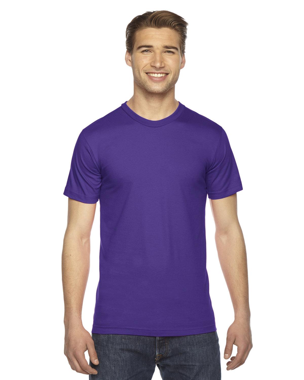 American Apparel Unisex Fine Jersey Short-Sleeve T-Shirt PURPLE