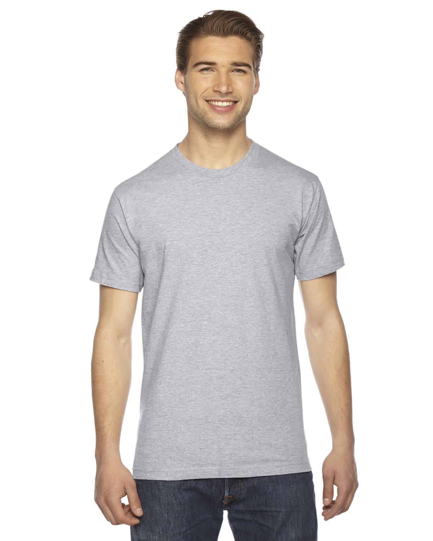 American Apparel Unisex Fine Jersey Short-Sleeve T-Shirt HEATHER GREY