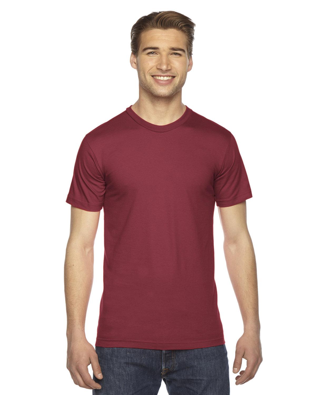 American Apparel Unisex Fine Jersey Short-Sleeve T-Shirt CRANBERRY