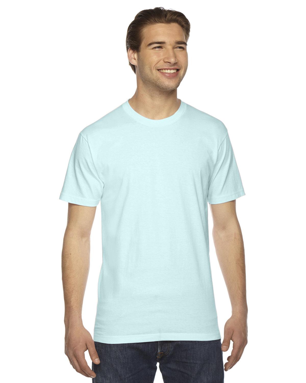 American Apparel Unisex Fine Jersey Short-Sleeve T-Shirt LIGHT AQUA