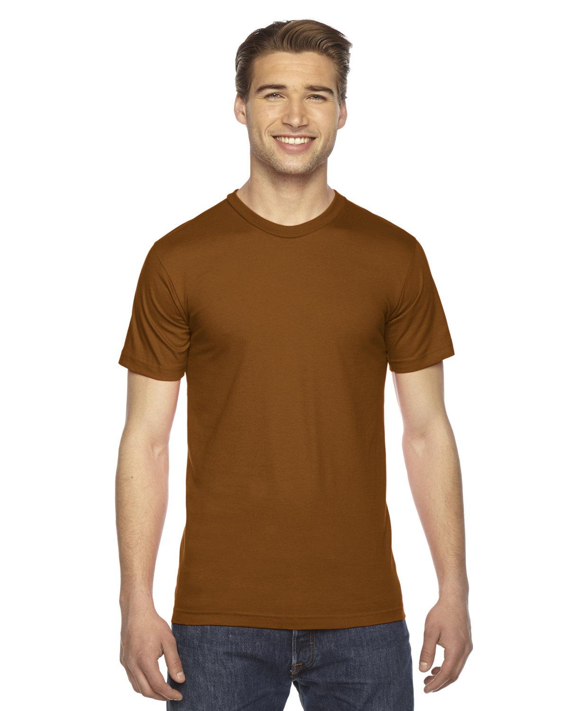 American Apparel Unisex Fine Jersey Short-Sleeve T-Shirt CAMEL