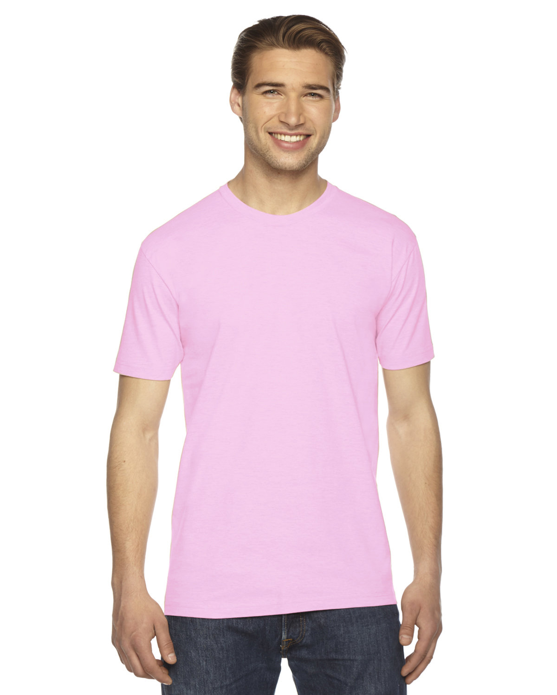 American Apparel Unisex Fine Jersey Short-Sleeve T-Shirt PINK