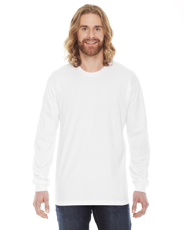 American Apparel Unisex Fine Jersey USA Made Long-Sleeve T-Shirt WHITE