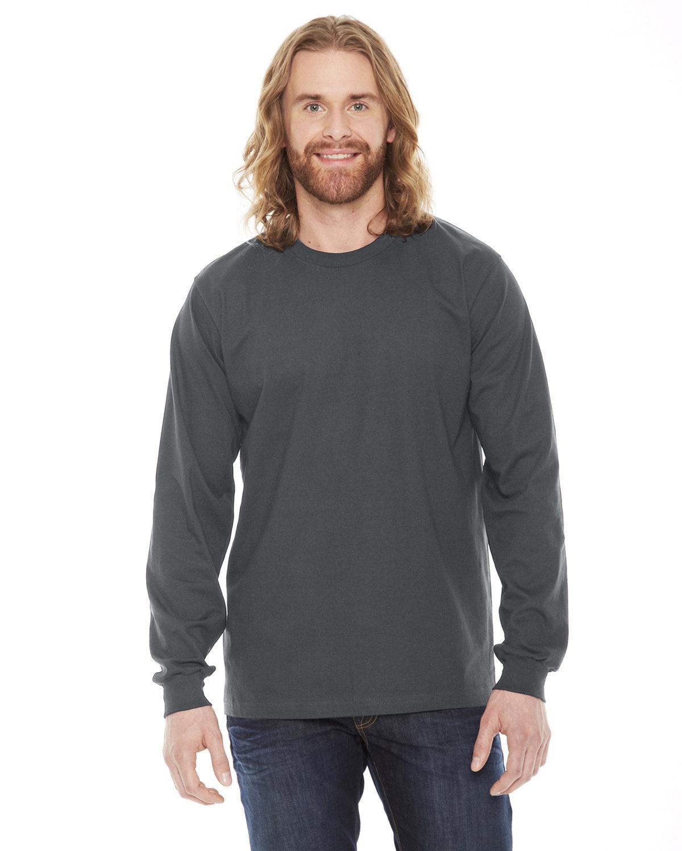 American Apparel Unisex Fine Jersey USA Made Long-Sleeve T-Shirt ASPHALT
