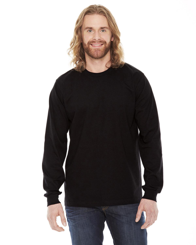 American Apparel Unisex Fine Jersey USA Made Long-Sleeve T-Shirt BLACK