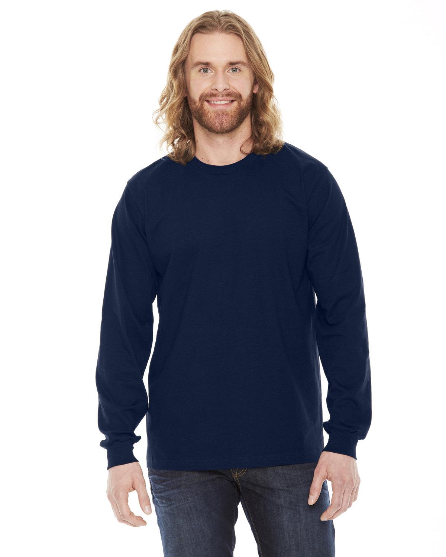 American Apparel Unisex Fine Jersey USA Made Long-Sleeve T-Shirt NAVY