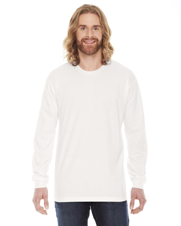 American Apparel Unisex Fine Jersey Long-Sleeve T-Shirt CREME