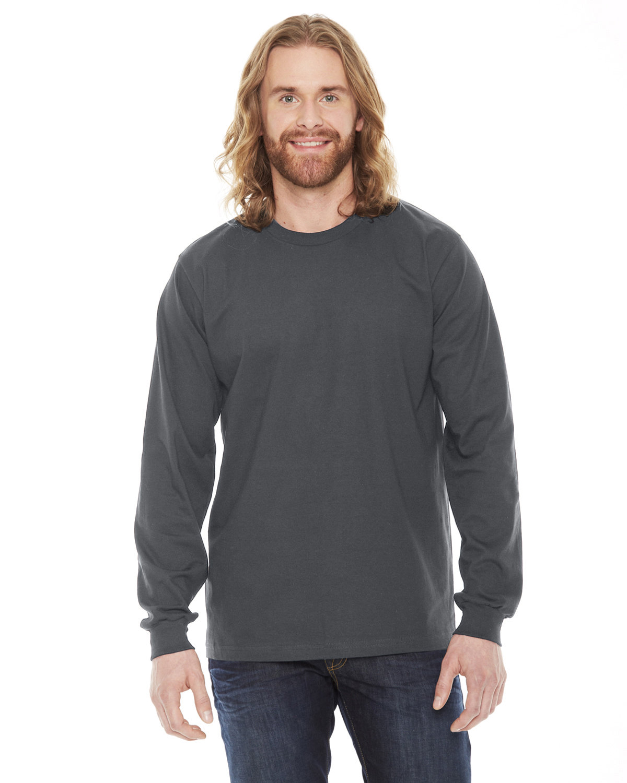 American Apparel Unisex Fine Jersey Long-Sleeve T-Shirt ASPHALT