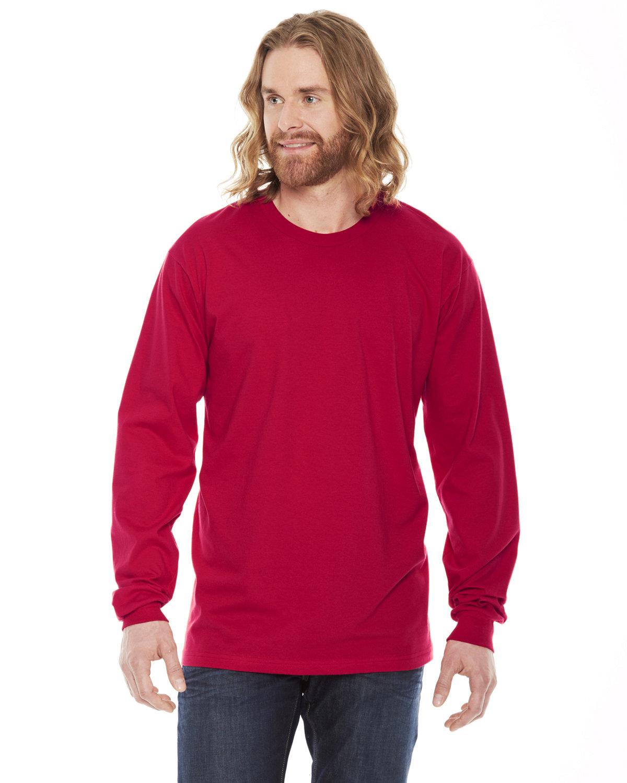 American Apparel Unisex Fine Jersey Long-Sleeve T-Shirt RED