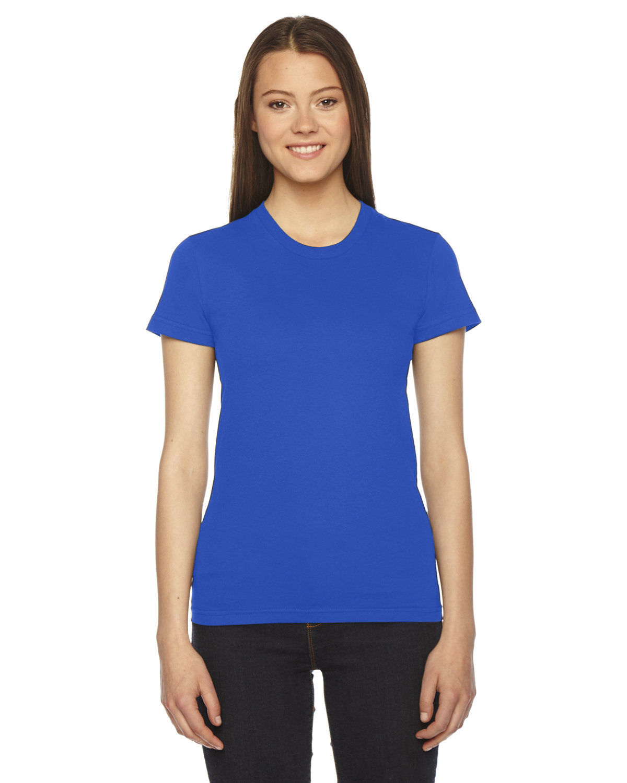 American Apparel Ladies' Fine Jersey USA Made Short-Sleeve T-Shirt ROYAL BLUE