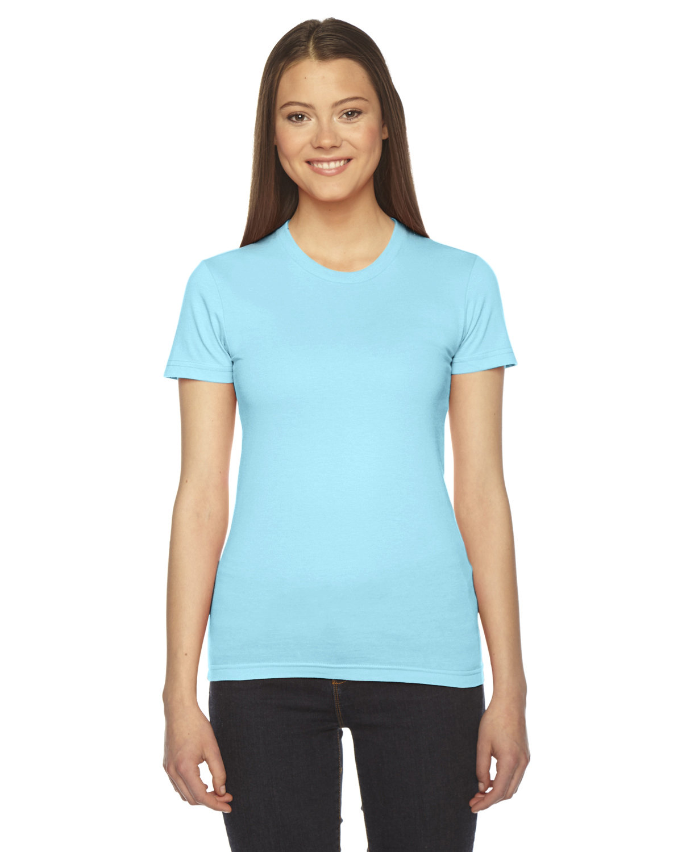 American Apparel Ladies' Fine Jersey Short-Sleeve T-Shirt AQUA