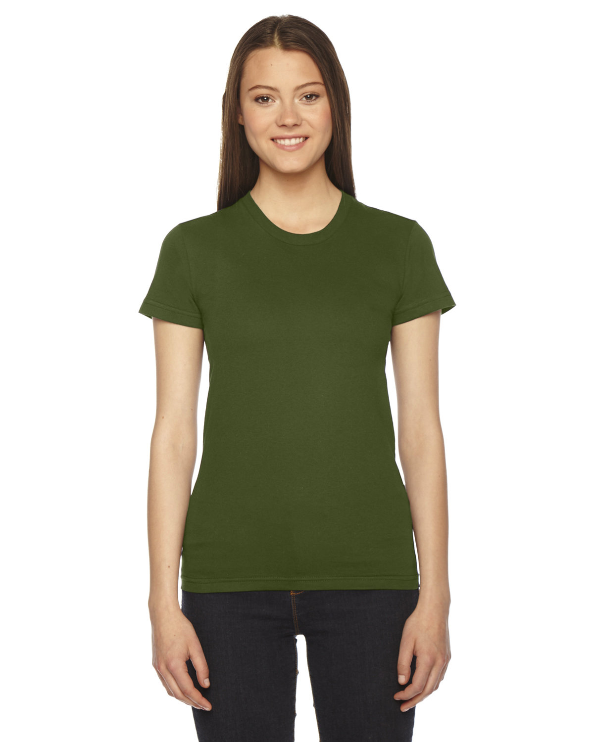 American Apparel Ladies' Fine Jersey Short-Sleeve T-Shirt OLIVE