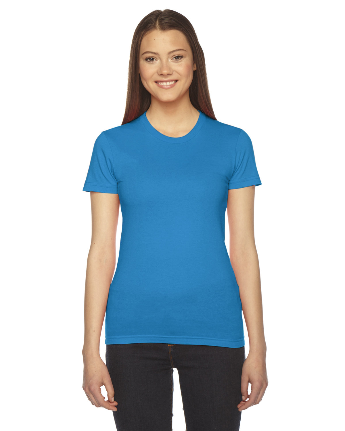 American Apparel Ladies' Fine Jersey Short-Sleeve T-Shirt TEAL