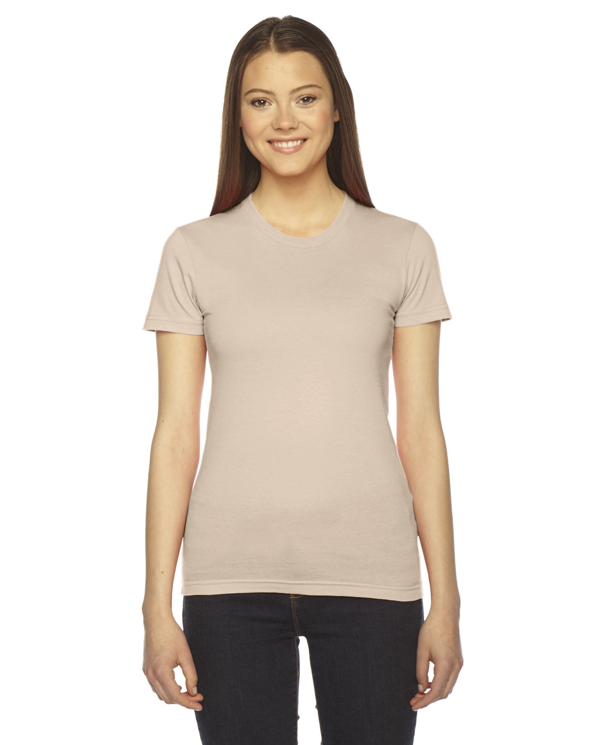 American Apparel Ladies' Fine Jersey Short-Sleeve T-Shirt CREME