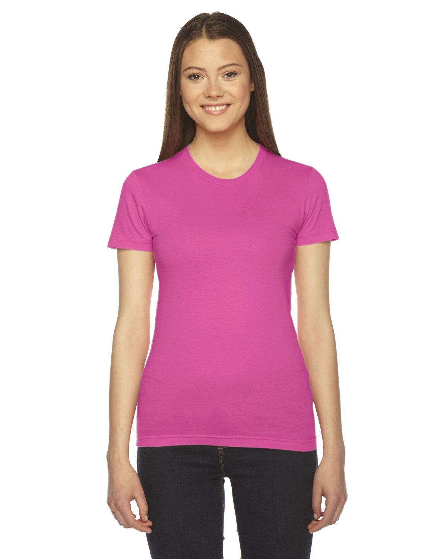 American Apparel Ladies' Fine Jersey Short-Sleeve T-Shirt FUCHSIA