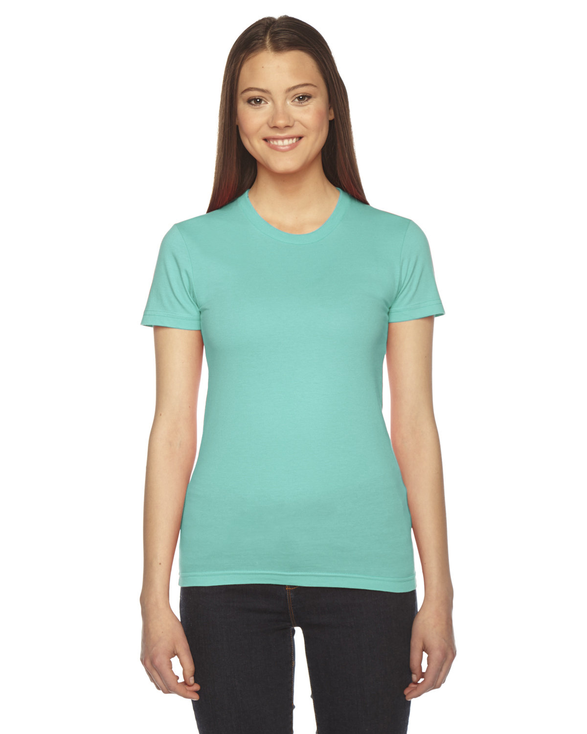 American Apparel Ladies' Fine Jersey Short-Sleeve T-Shirt MINT